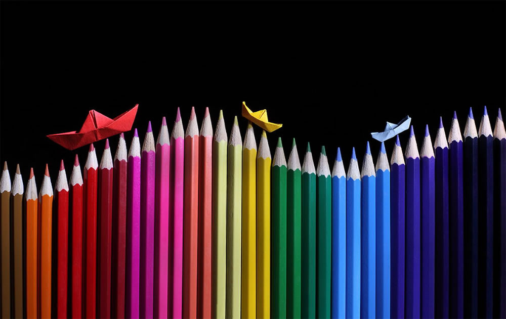 Pencil Color Art - Imagination and Illusion